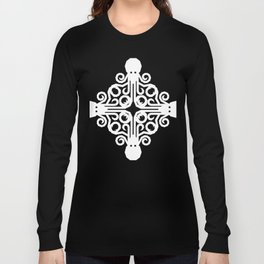 Trippy Psychedelic Octopus Quadrant Long Sleeve T-shirt