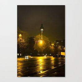 Berlin Night Splash Canvas Print