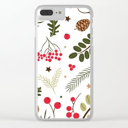 Nature pattern Clear iPhone Case