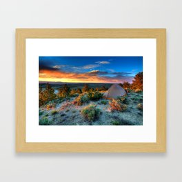 The Benefits of Camping Landscape Framed Art Print