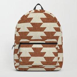 boho geometric aztec in ginger Backpack
