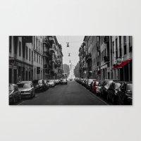 milan Canvas Prints featuring Milan by O.K.
