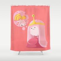 princess bubblegum Shower Curtains featuring Adventure Time - Princess Bubblegum ( in - style ) by Seez
