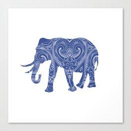 Blue Elephant Canvas Print