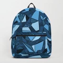 Origami whales Backpack