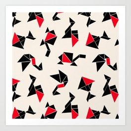 Tangram Animals Art Print