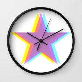 Polarized Star Wall Clock