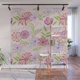 Flowers dancing around Wall Mural