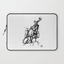 Playing the contrabass Laptop Sleeve