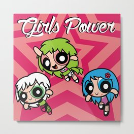 Girls Power Metal Print
