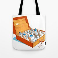 greece Tote Bags featuring Greece by Shahar Kober