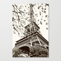 eiffel tower Canvas Prints featuring Eiffel Tower by Linde Townsend