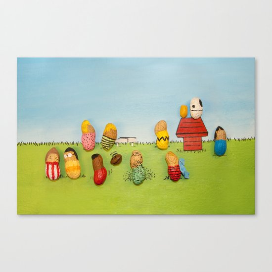 Real Peanuts Canvas Print