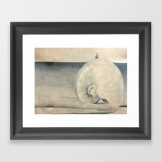 Seashell Genie Framed Art Print