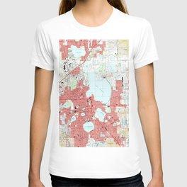 Lakeland Florida Map (1994) T-shirt