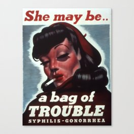 Vintage poster - STDs Canvas Print