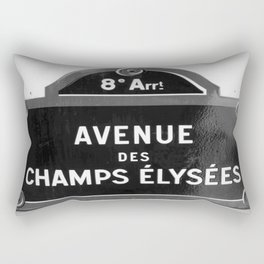 Avenue des Champs Elysees in Paris Rectangular Pillow