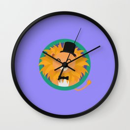 Lion groom with cylinder T-Shirt D2dqz Wall Clock