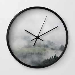 the house in the MOUNTAINS Wall Clock