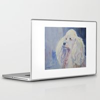 poodle Laptop & iPad Skins featuring White poodle by Doggyshop