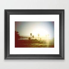 light beam Framed Art Print