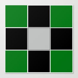 TEAM COLORS 3......GREEN,BLACK, AND GRAY Canvas Print