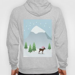 Winter in the mountains Hoody