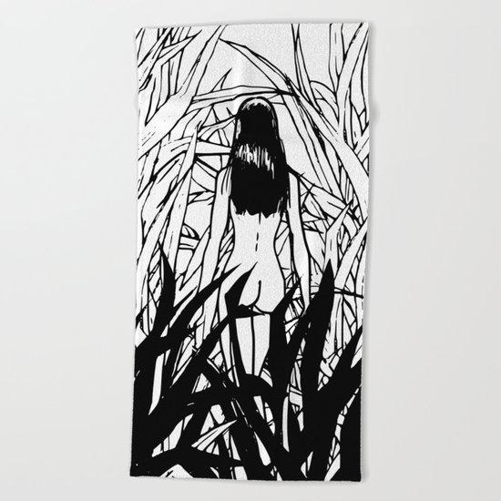 Bush nude Beach Towel