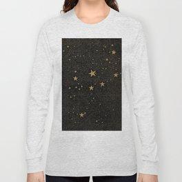 Paper Texture Stars Illustration from A high-school astronomy - Hiram Mattison - 1859 Long Sleeve T-shirt