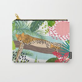 Colorful Jungle Cheetah Print Carry-All Pouch