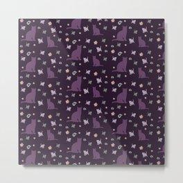 Kittens in purple Metal Print