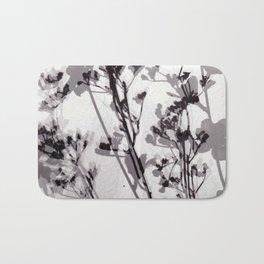 Flower Photogram #1 Bath Mat