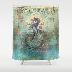 The Seahorse Diary Shower Curtain