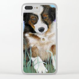 Shetland Sheepdog Puppy Baby Picture Clear iPhone Case