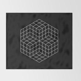 Vasarely cubes Throw Blanket