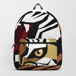 Graphic image of a growling tiger Backpack