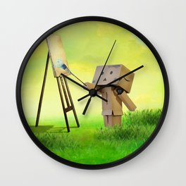 Danbo the artist Wall Clock