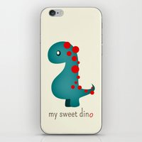 dino iPhone & iPod Skins featuring Dino by Jane Mathieu