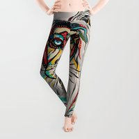 people Leggings featuring Lion by Felicia Atanasiu