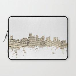 Boston Massachusetts Skyline Sheet Music Cityscape Laptop Sleeve