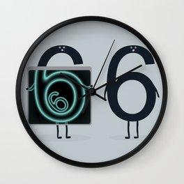 Numerical Horror Story Wall Clock