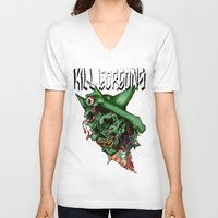blood V-neck T-shirts featuring blood by KillGorgons