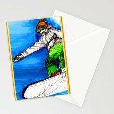 Snowboarder girl Stationery Cards