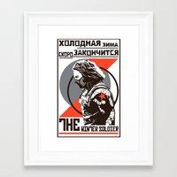 propaganda Framed Art Prints featuring Propaganda by Shop 5