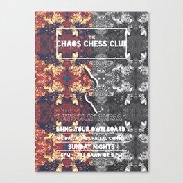 #CHAOS CHESS CLUB  Canvas Print