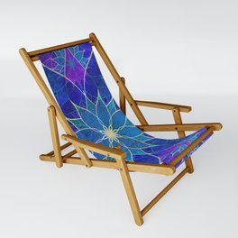 Lotus 2 - blue and purple Sling Chair