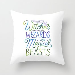 AVPM - Back To Hogwarts Throw Pillow