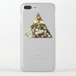 Wall of Daisies Clear iPhone Case