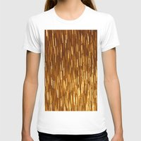 gold glitter T-shirts featuring Gold Glitter 1394 by Cecilie Karoline