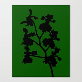 Orchid in Pale Pink - Original Floral Botanical Papercut Design Canvas Print